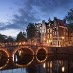 amsterdam canal twilight