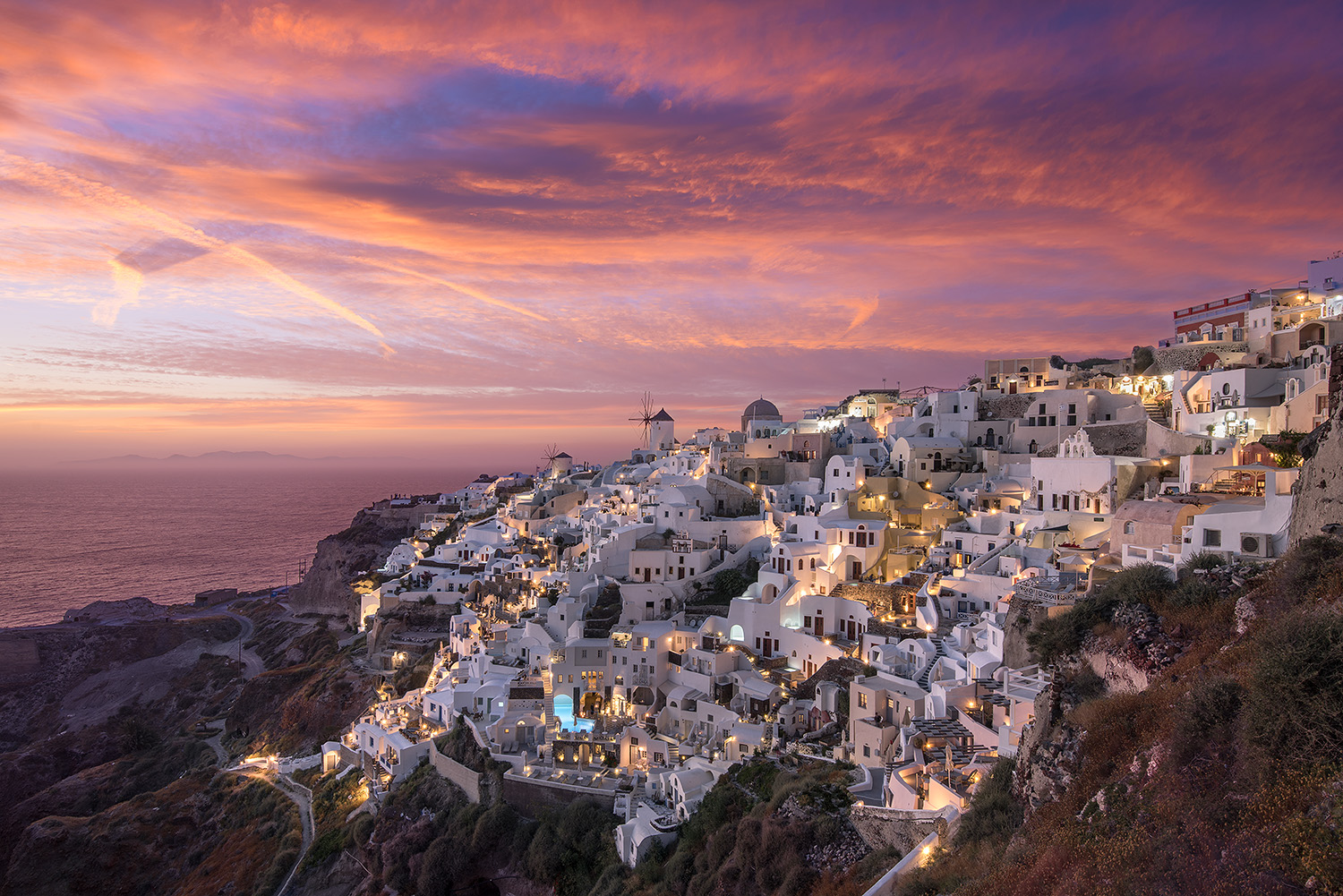 Donald Yip Santorini Sunset