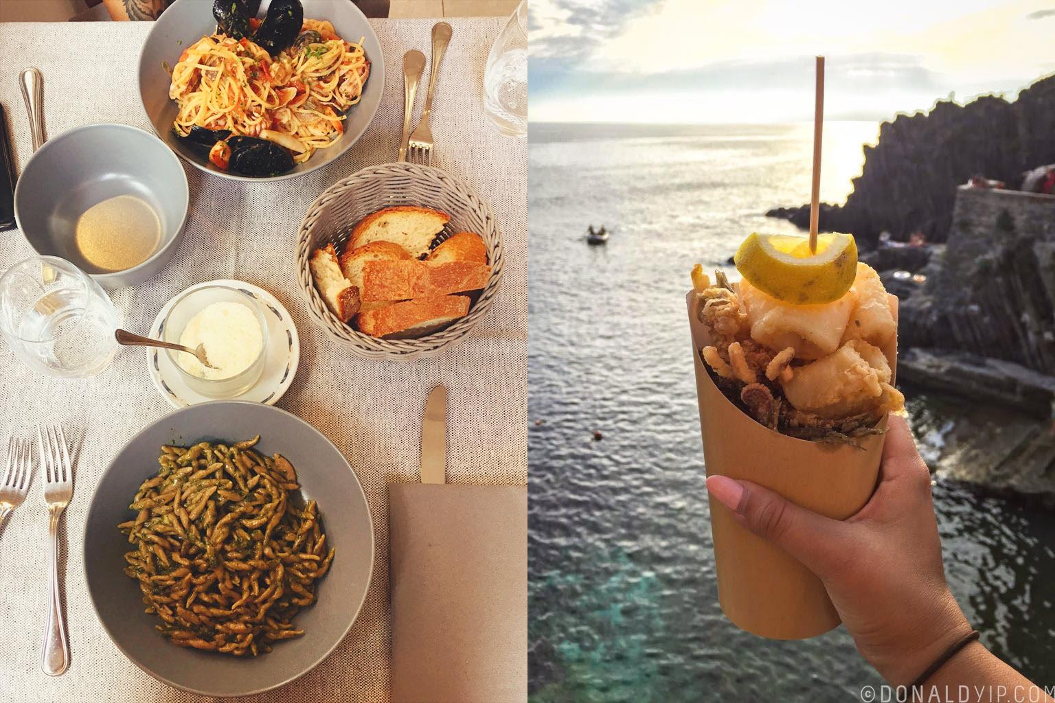 Riomaggiore Food Donald Yip