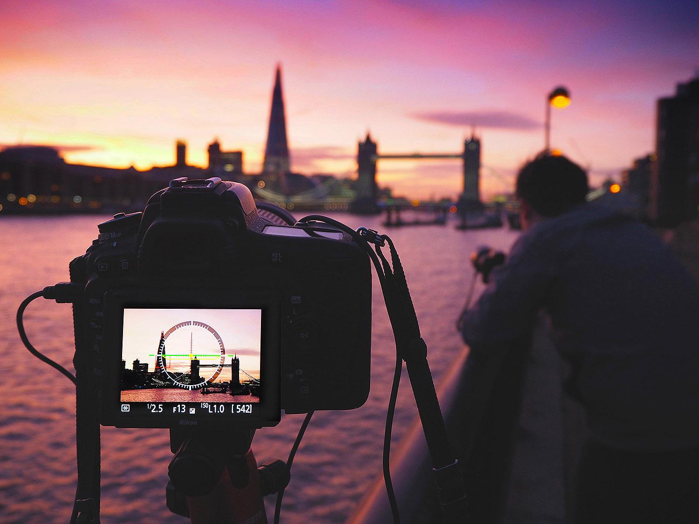 London Bridge Shard Sunset