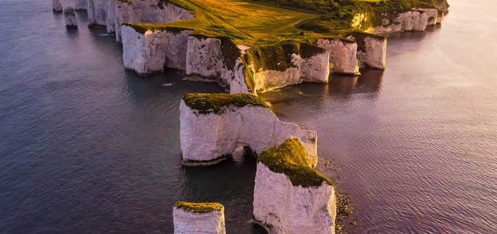 Old Harry Rocks Drone Donald Yip