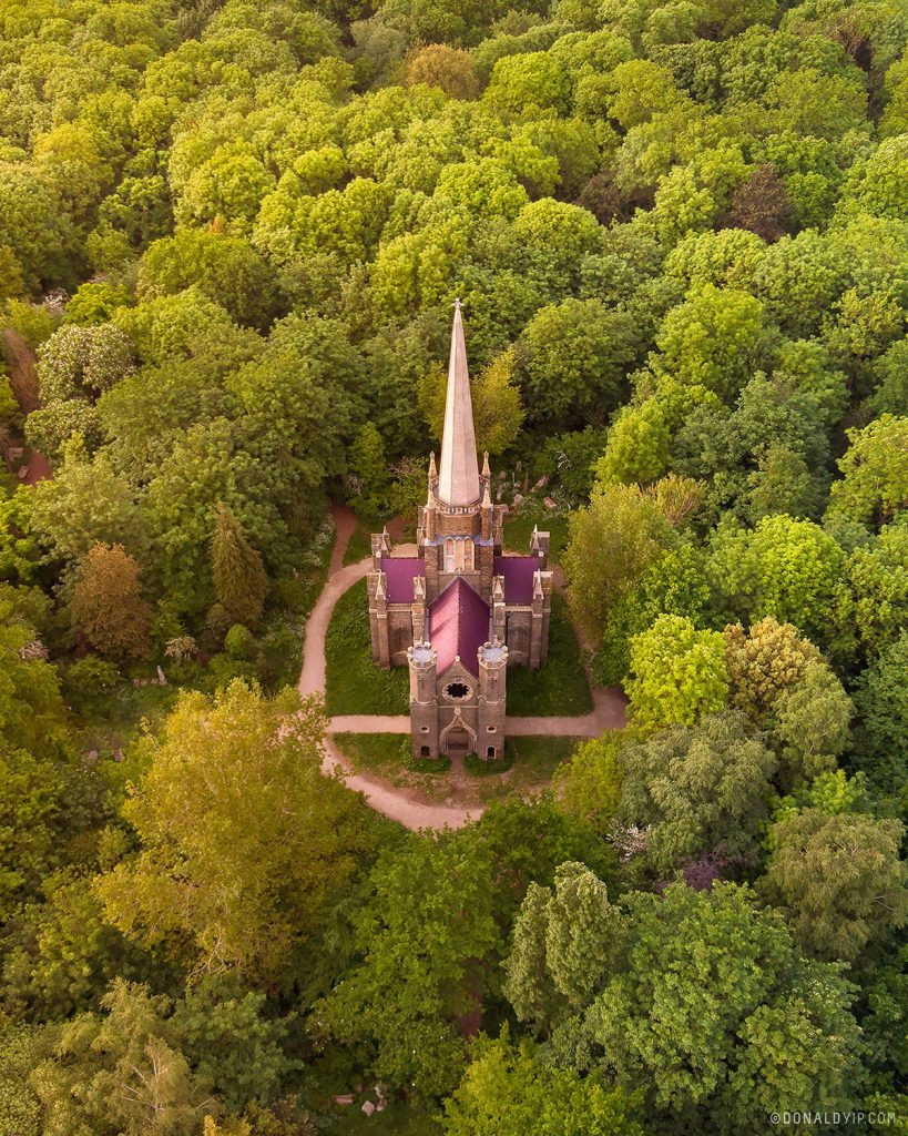 london chapel forest drone