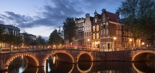 amsterdam canal twilight