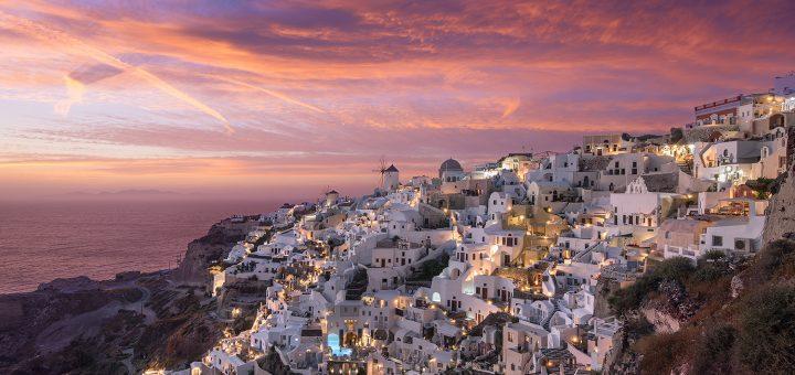 Donald Yip Santorini Sunset